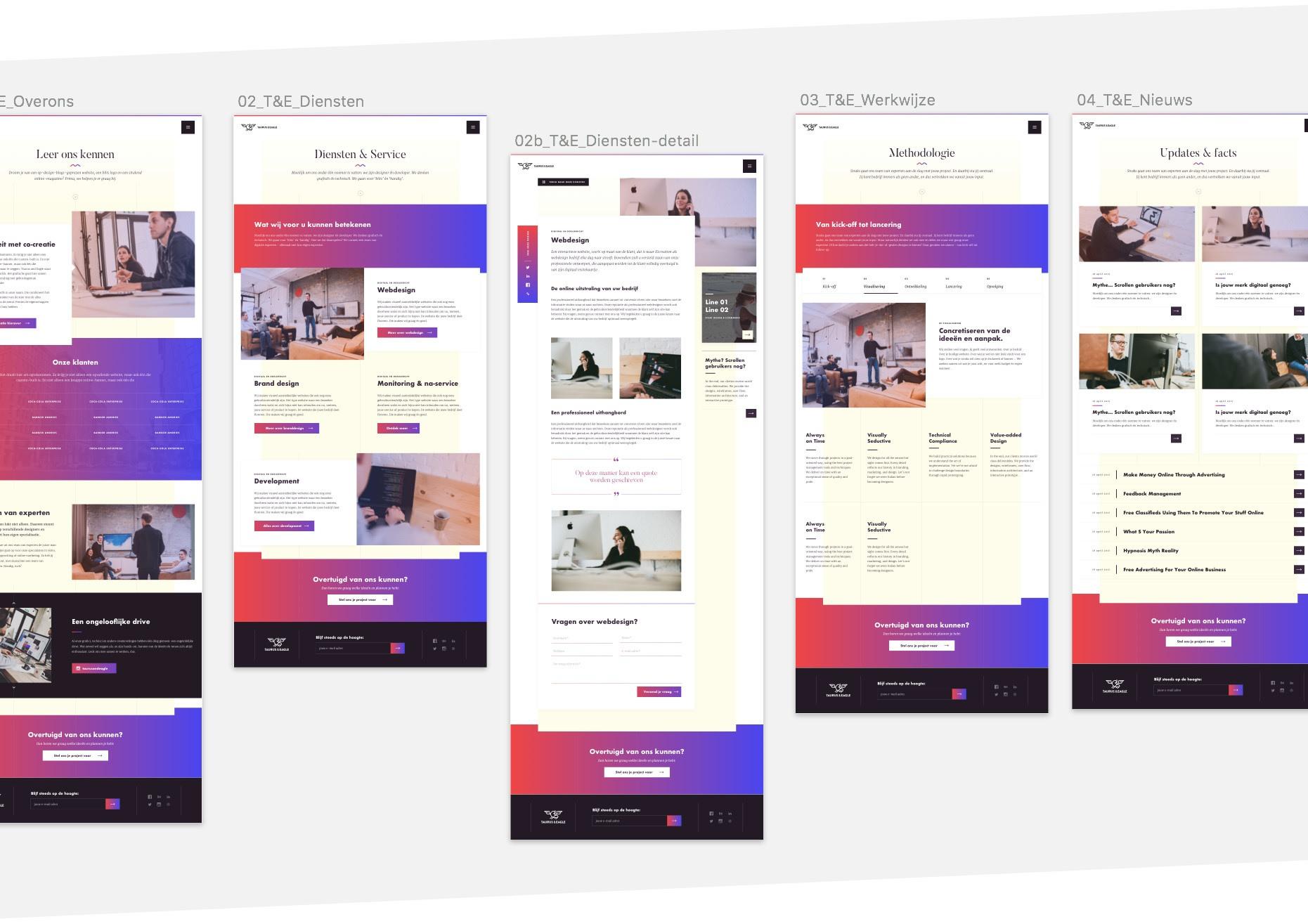 UI design website Taurus & Eagle